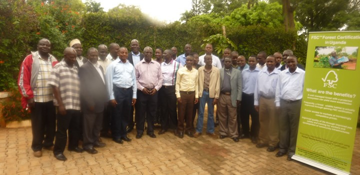 Members of Standards Development Group (SDG) Uganda who are spearheading the process of developing National Forest Standards