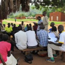 Community consultation meeting on Collaborative Forest Management Initiative in Potika Parish
